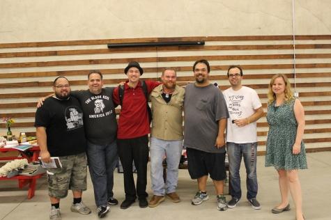 Left to Right: Robert Rodriguez, V Lazora Zamora, Mike Sonksen, Joe Gardner, Christian Lozada, Steven Hendrix, Sarah Tatro